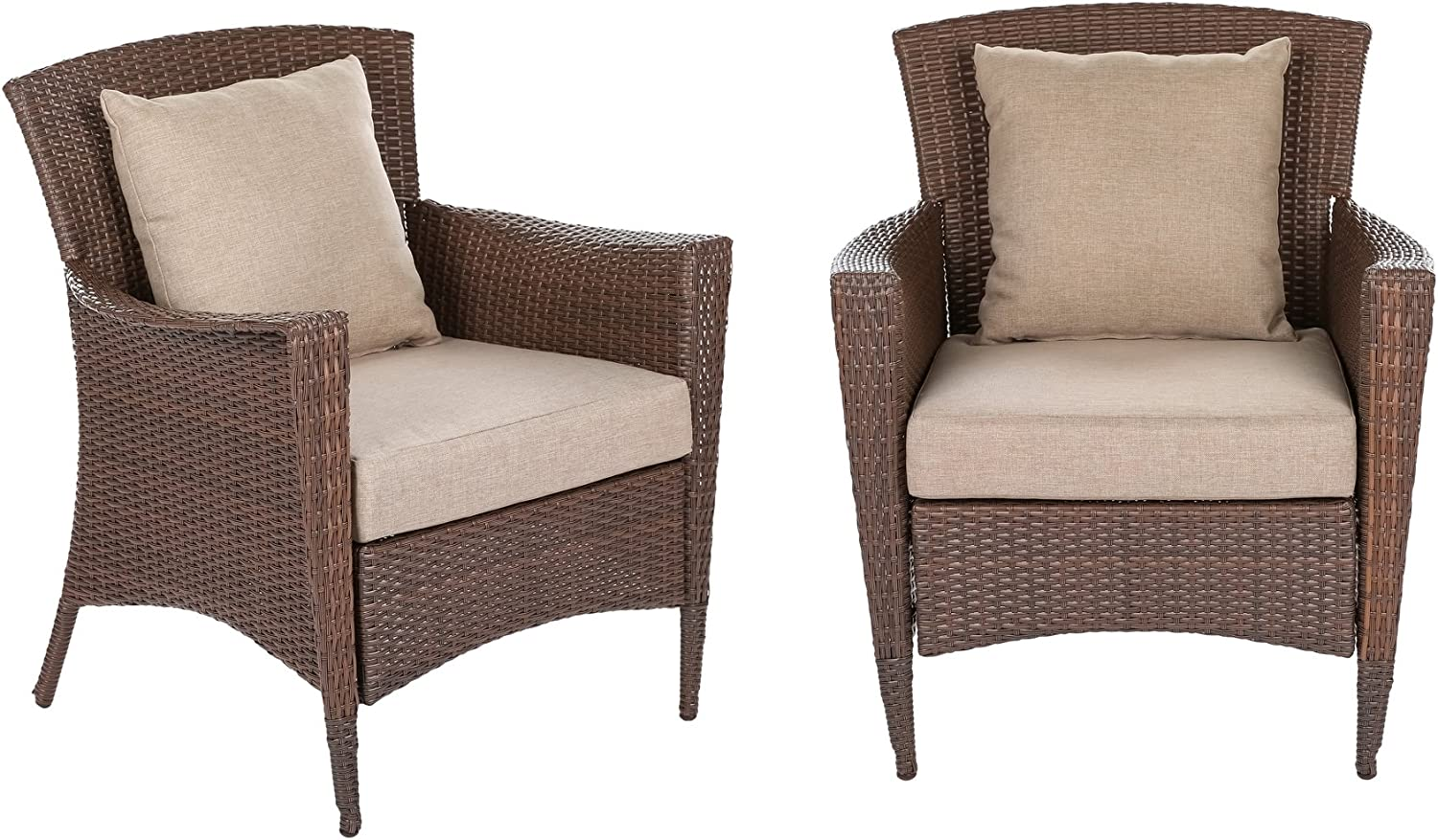WUnlimited 2xSW1305-AC Galleon Collection Outdoor 2 Bistro Chair Set Patio Furnitur