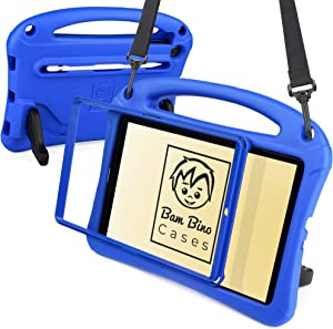 Bam Bino Space Suit [Rugged Kids Case] for Samsung Galaxy Tab A 10.1 (2019)   Designed in Australia, Made for Children   Stylus Holder, Screen Guard (Blue)