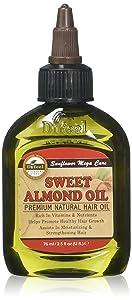Difeel Premium Mega Hair Oil, Sweet Almond, 2.5 Oz, 2.5 Ounces