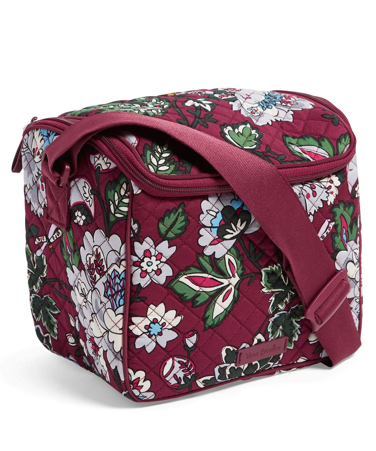 Vera Bradley Women's Iconic Stay Cooler (Bordeaux Blooms)