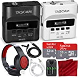 Tascam DR-10L & DR10LW Digital Audio Recorder W/Lavalier Mics and 2x 32 GB, 2x Headphones Bride and Groom Deluxe Bundle