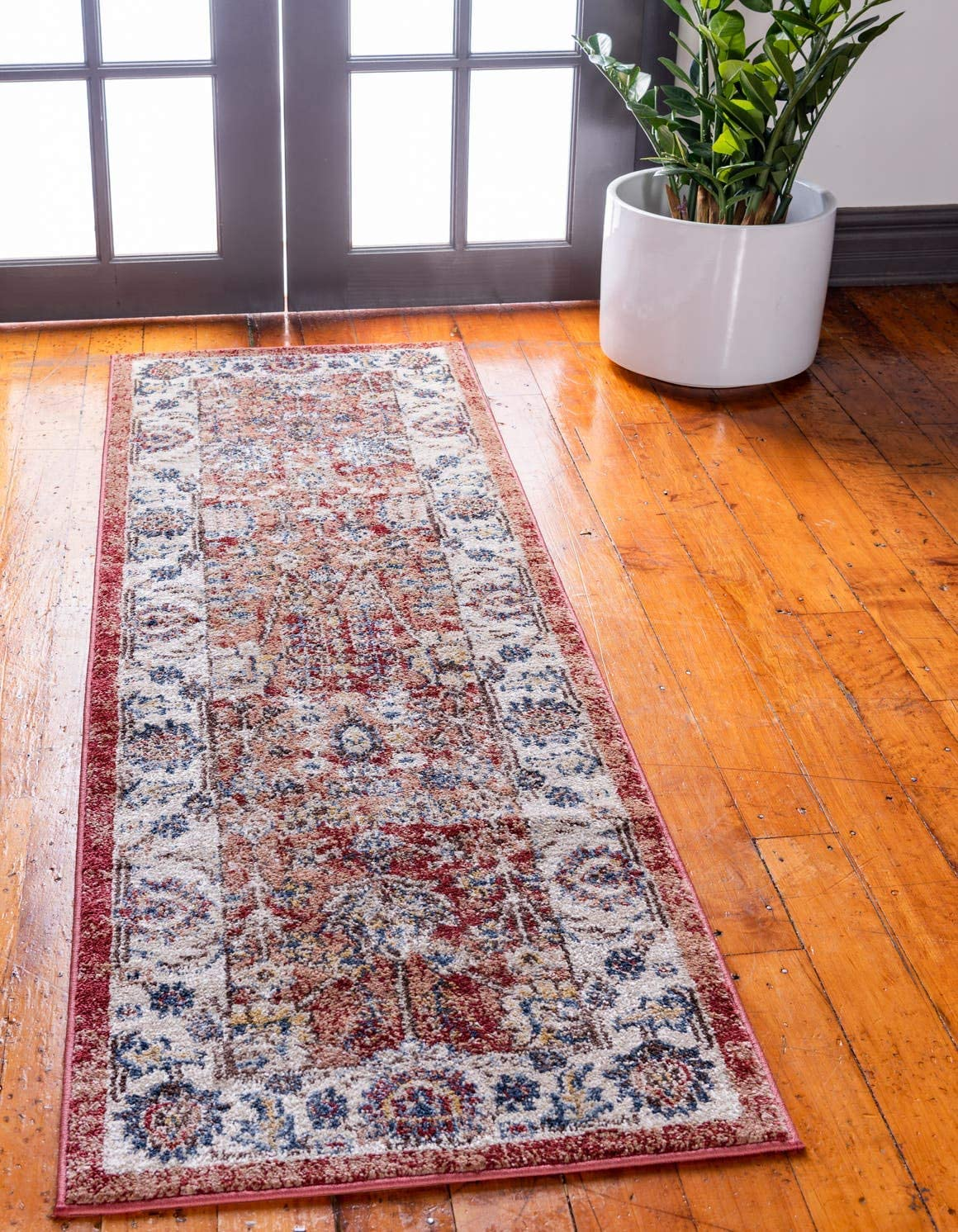 Unique Loom Utopia Collection Traditional Botanical Vintage Warm Tones Terracotta Runner Rug 2 0 x 6 0