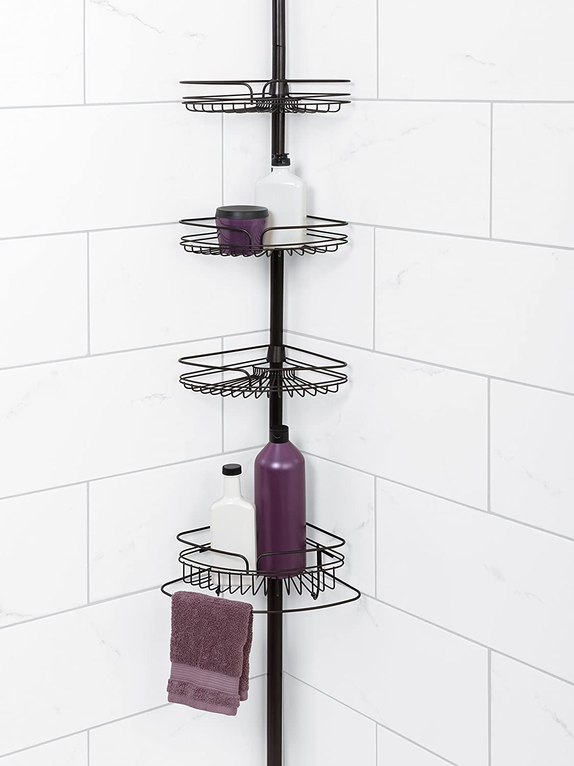 Bon Amazon.com: Zenna Home 2132HB, Tension Corner Pole Caddy, Oil Rubbed  Bronze: Home U0026 Kitchen