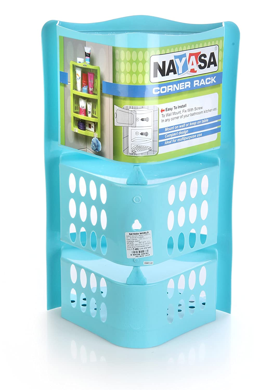 Nayasa Plastic Corner Rack Big, Blue: Amazon.in: Home & Kitchen
