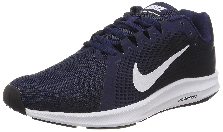 Nike Downshifter 8, Zapatillas de Running para Mujer 39 EU|Azul (Midnight Navy/White-dark Obsidian-black 402)
