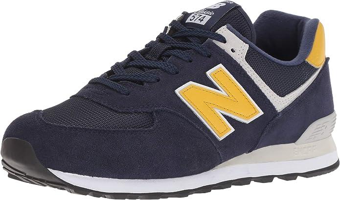 New Balance 574v2 Sneakers Herren Blau/Gelb (Pigment/Yellow Brass)