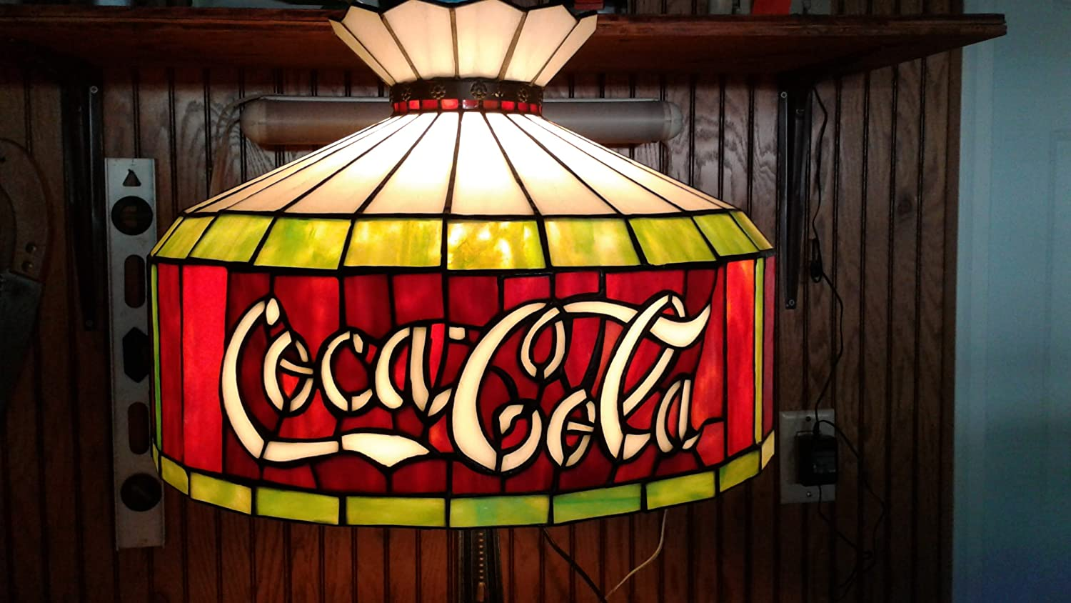 Coca Cola Stained Glass Lamp.Amazon Com Cocacola Stained Glass Light Table Lamp Sports