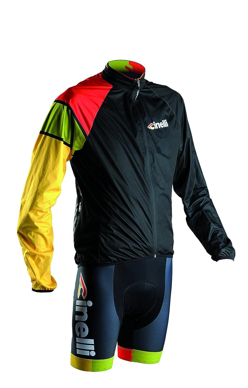 Cinelli Herren Radjacke Italo '79 Waterproof Jacket, schwarz Farbefull