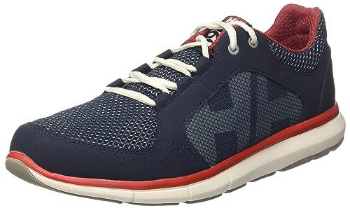 Mens Aquapace 2 Boating Shoes, Grey-Red-Ebony, 6.5 UK Helly Hansen