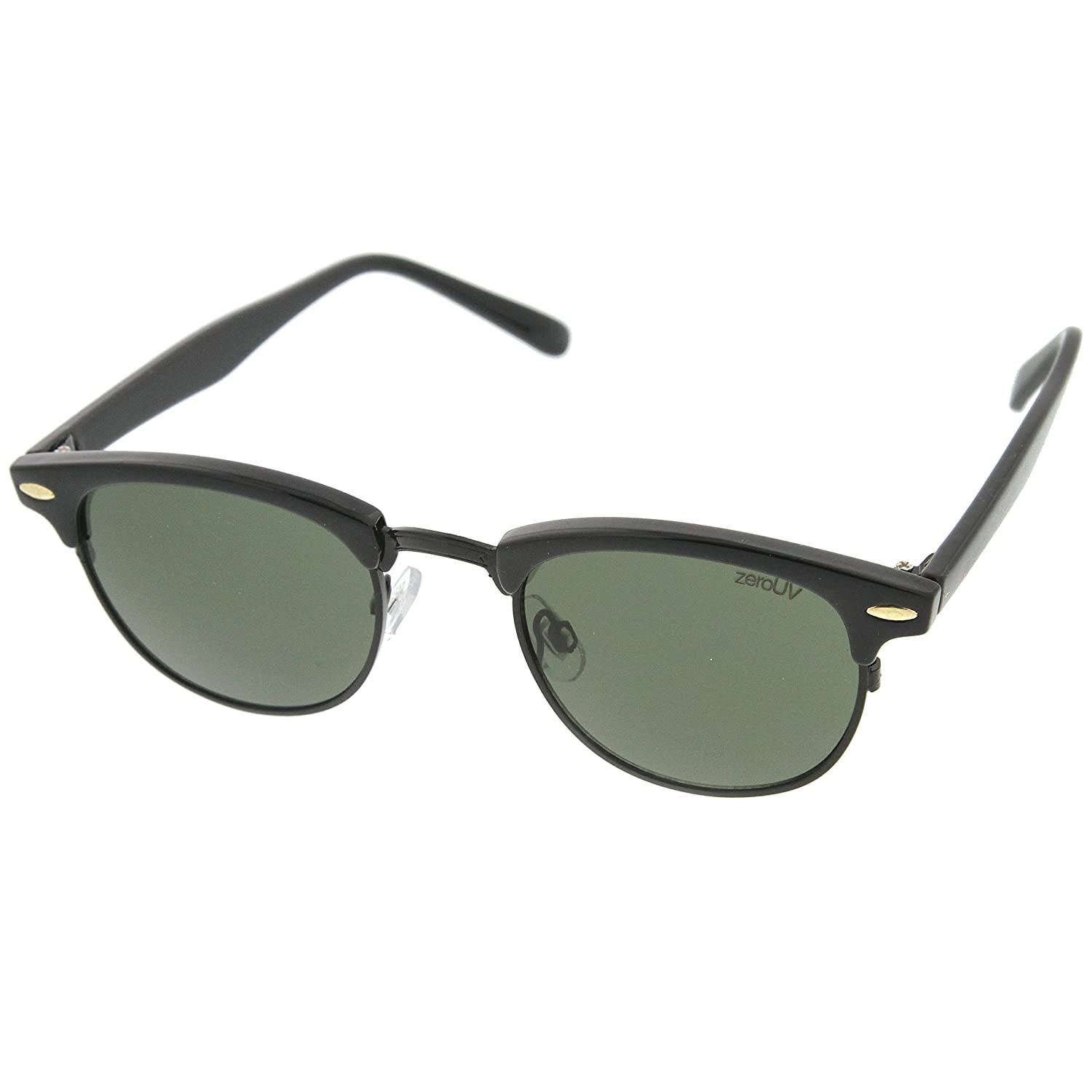 7b2951080e Amazon.com  Vintage Half Frame Semi-Rimless Horn Rimmed Style Classic  Optical RX Sunglasses (2-Pack)  Shoes