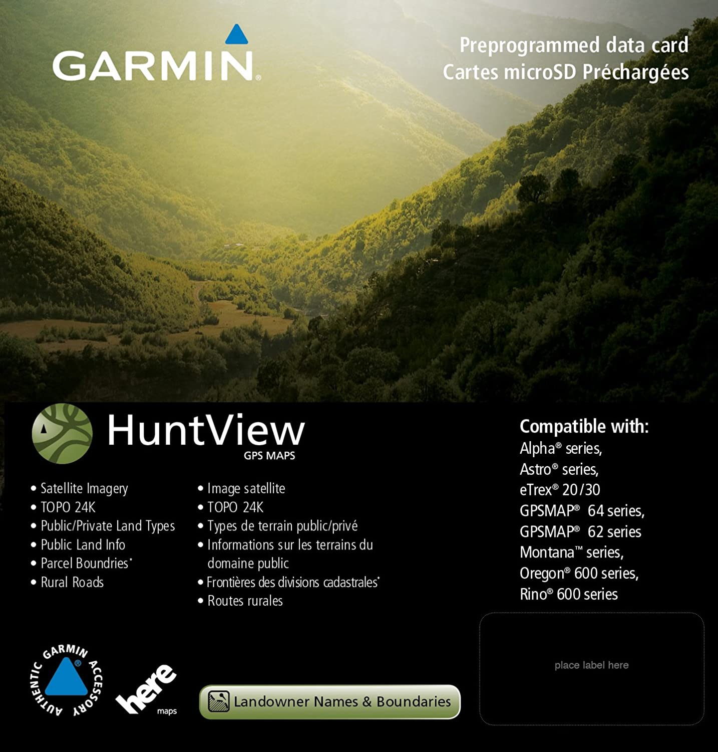 Garmin 010-12427-01 Huntview Map Card - Arizona