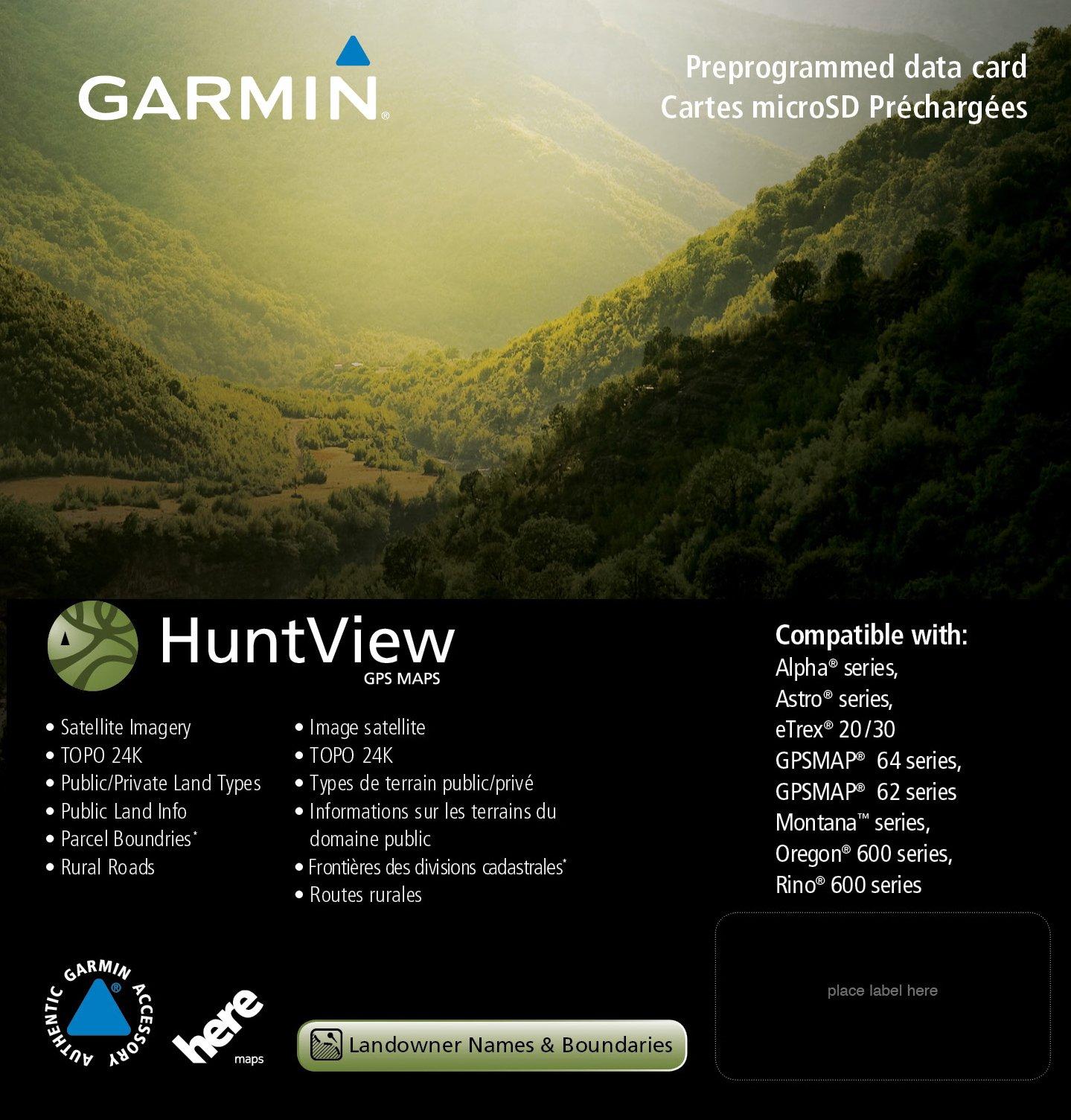 Garmin 010-12645-01 Huntview Map Card - West Virginia