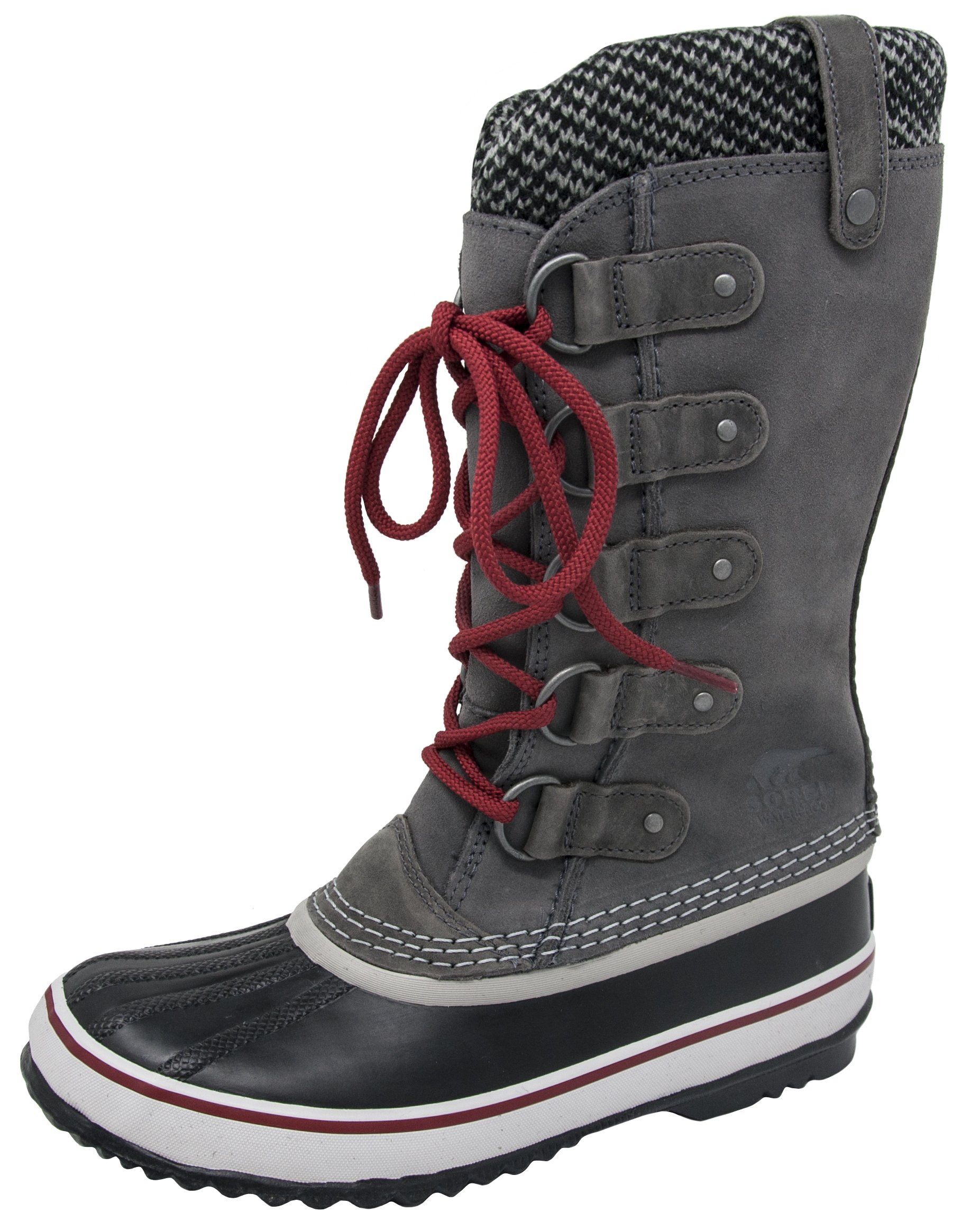 Sorel Women's Joan of Arctic Knit Boot (9.5 B(M) US, Quary Red/Dahlia)