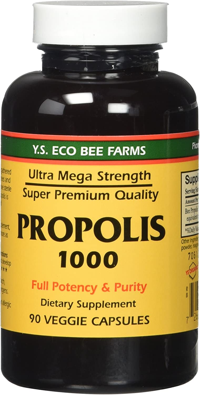 Propolis-Raw Unprocessed 1000mg Y.S. Organic Bee Farms 90 Caps