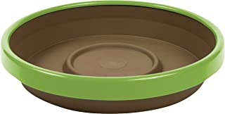 "product image for Bloem (STT1245-25) Terra Two-Tone Saucer 12"" Chocolate w/Honey Dew"