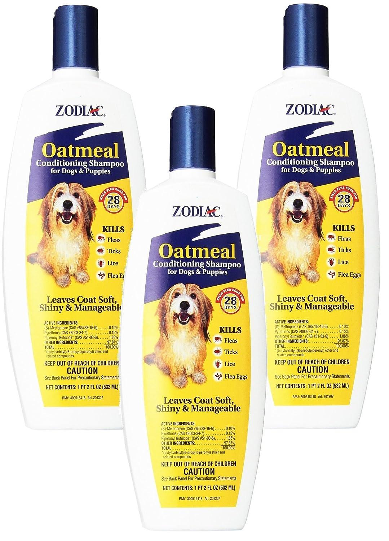 Zodiac Oatmeal Flea Tick Dog Puppy Conditioning Shampoo