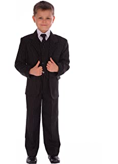 Boys Black Suit Prom Wedding Christening New Age 1-15 Years Free Uk Delivery