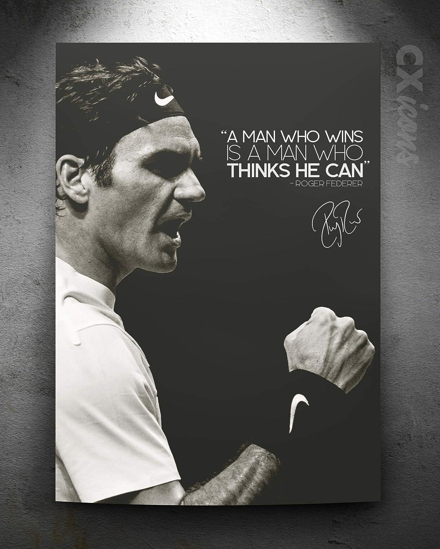 yhnjikl Roger Federer Tennis Star Sport Star Wall Art Peinture Impression sur La Soie Affiche De Toile D/écoration 40X60Cm sans Cadre