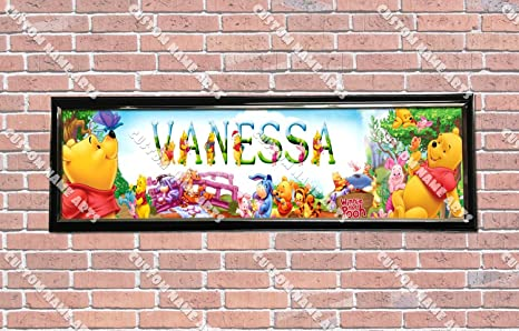 Amazoncom Personalized Customized Winnie The Pooh Poster With