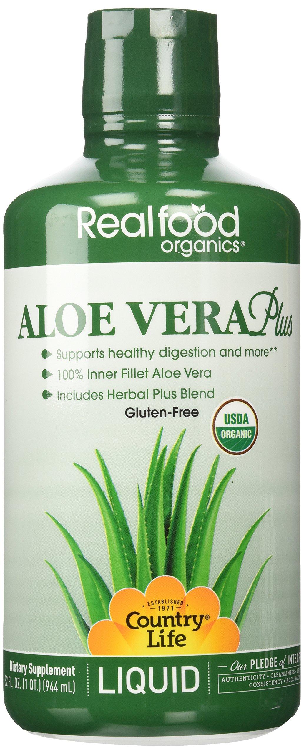Country Life Liquid Aloe Vera +, 32-Ounce