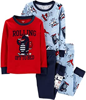 c6bb320678e9 Carter s Toddler Boys 4 Pc Pajama PJs Sleep Play Sleep Snug fit ...