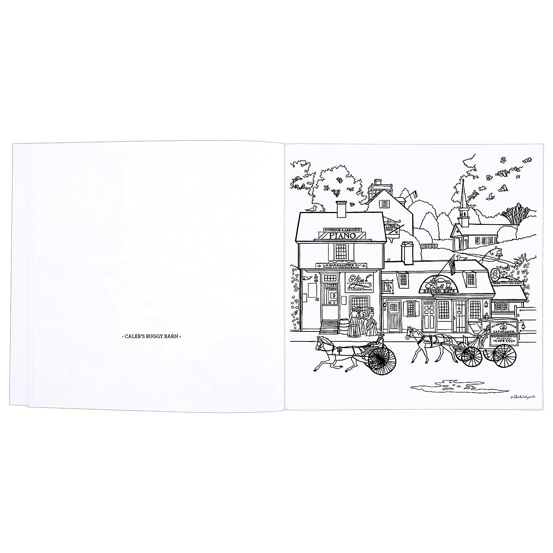 amazon com coloring book charles wysocki americana by