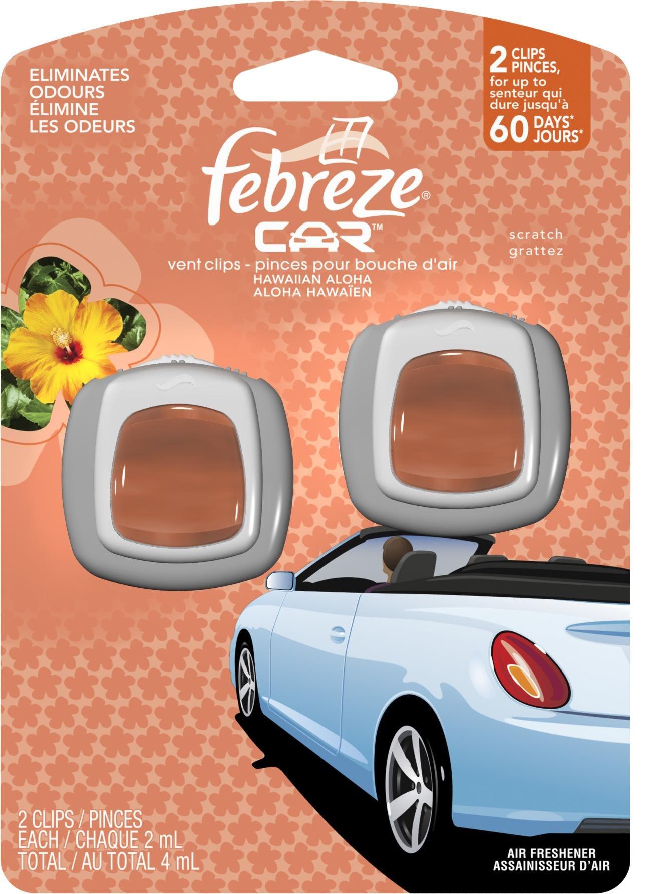 Febreze 81118 Car Vent Clip, Liquid, Amber