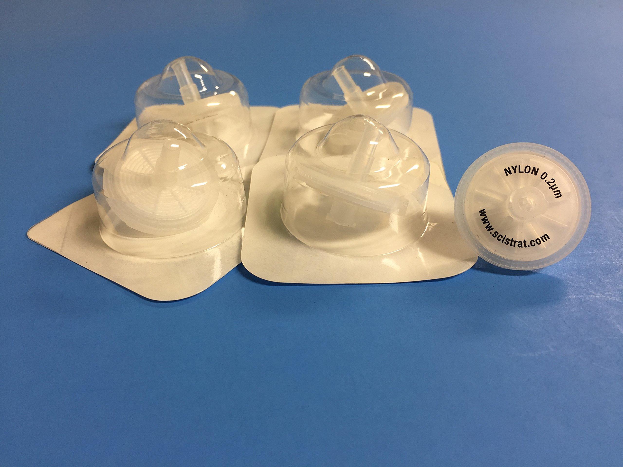 Sterile Syringe Filter, Nylon, 25mm diameter, 0.2um, Individually Packaged, 10/pk