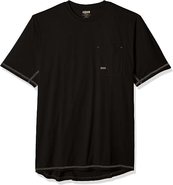 Ariat Mens Big and Tall Rebar Short Sleeve CrewHenley Shirt