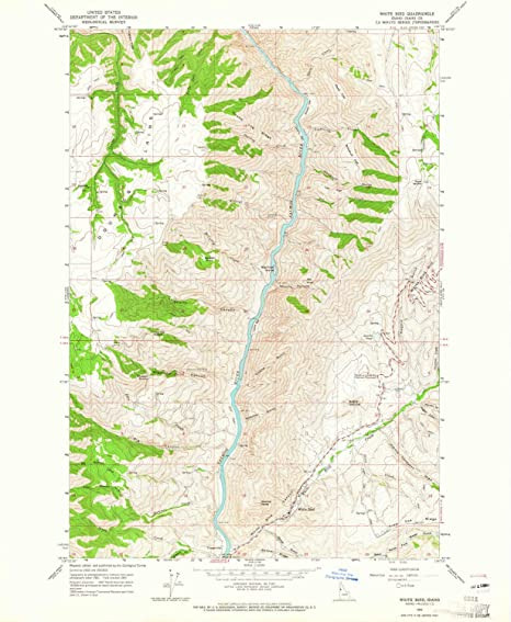 Amazon Com Yellowmaps White Bird Id Topo Map 1 24000 Scale 7 5 X