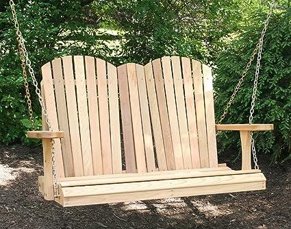 Amazon.com: creekvine diseños cedro Adirondack porche Swing ...