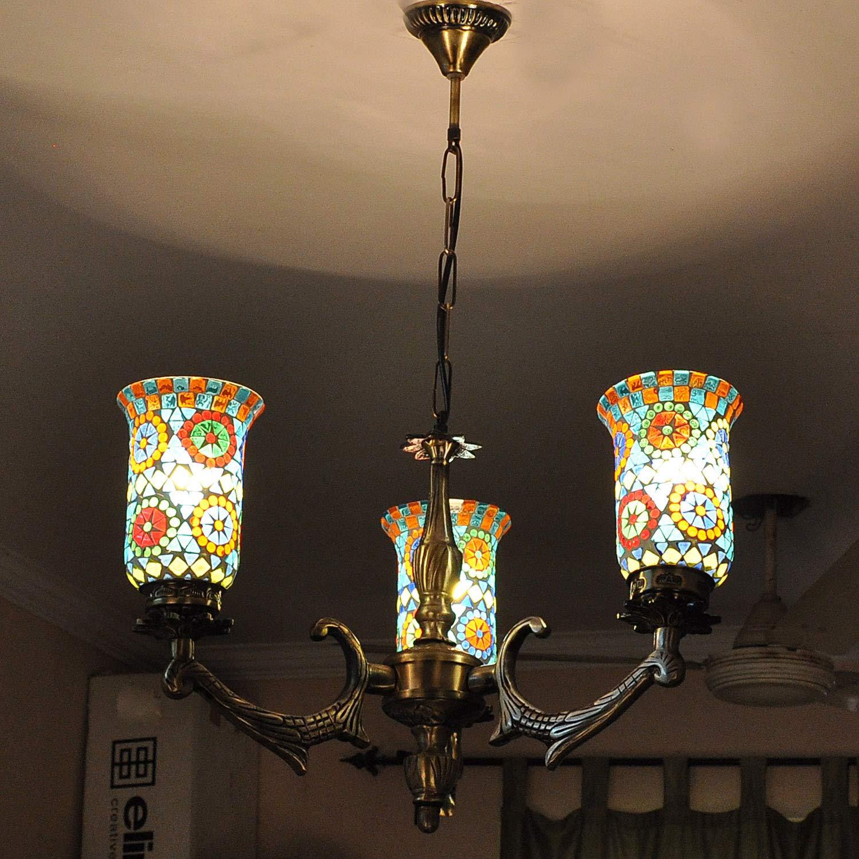 Amazon.com: Lalhaveli - Lámpara de techo con 3 lámparas de ...
