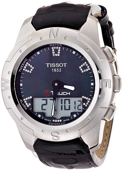 Tissot Reloj Analógico-Digital para Mujer de Cuarzo con Correa en Cuero T047.220.46