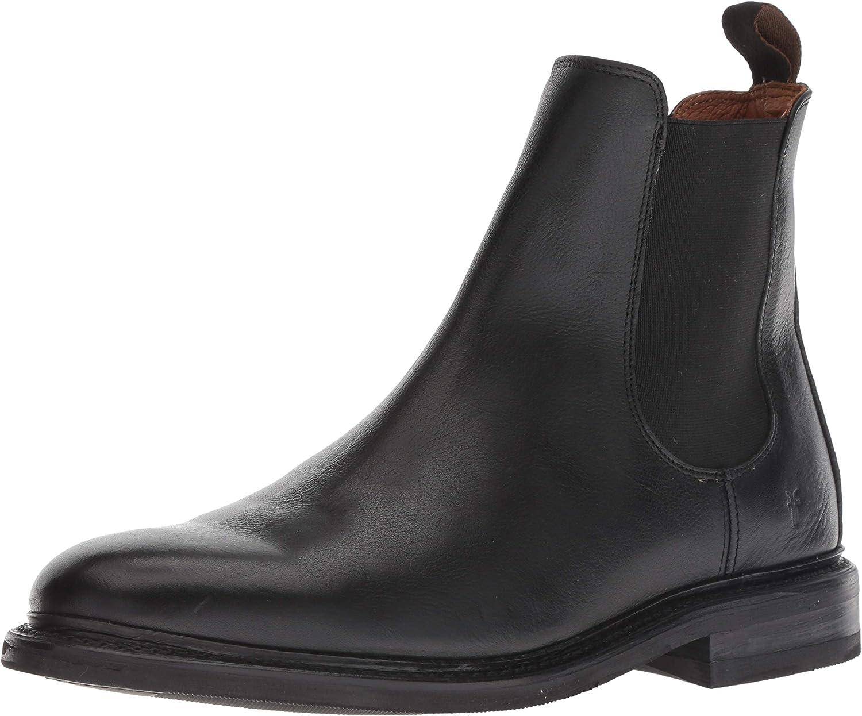 FRYE Men's Seth Chelsea Boot, Black, 10