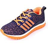 SHOES T20 Women's Blue & Orange Mesh Running Sports Shoe