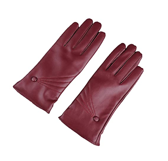 ab051d3cf Winter Touch Screen Driving Gloves for Women Warm Leather Gloves (red)