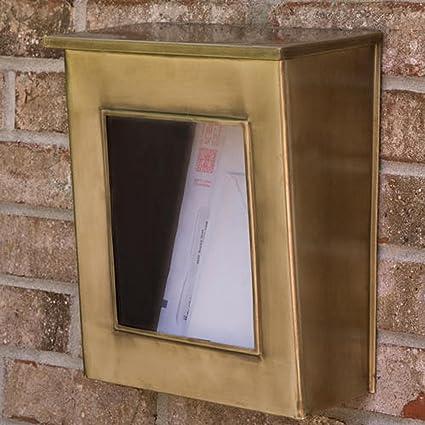 vertical wall mount mailbox. Naiture Brass Vertical Wall-Mount Mailbox With Viewing Panel In Antique  Finish Vertical Wall Mount Mailbox L