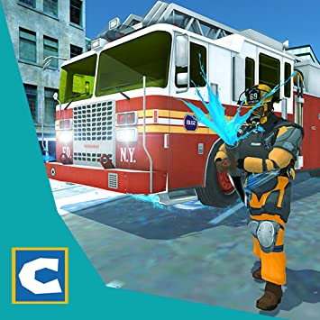 American Firefighter Rescue Truck Simulator- Fire Fighter Games