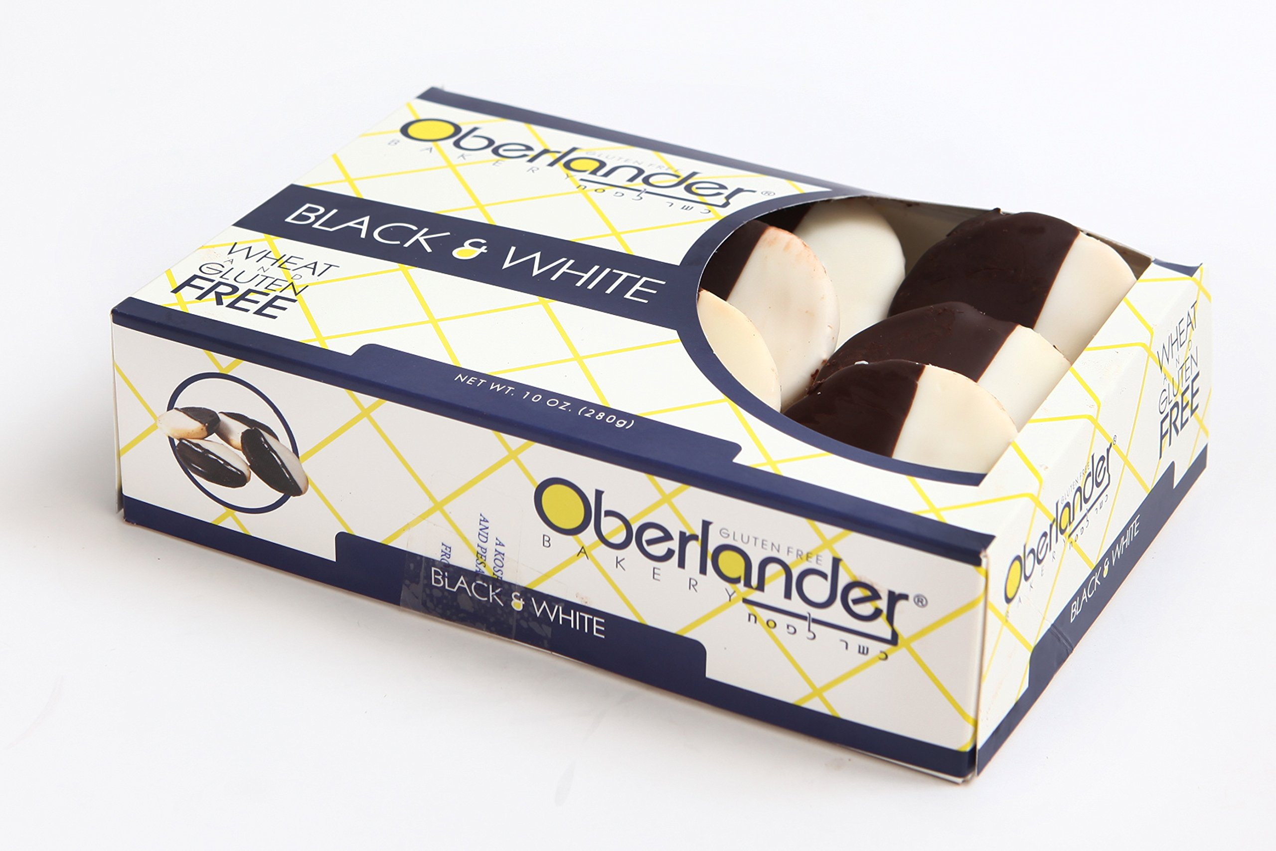 Oberlander's Gluten Free Black & White Cookies - Wheat, Soy & Dairy Free - Certified Kosher for Passover & Year-round - 10 OZ
