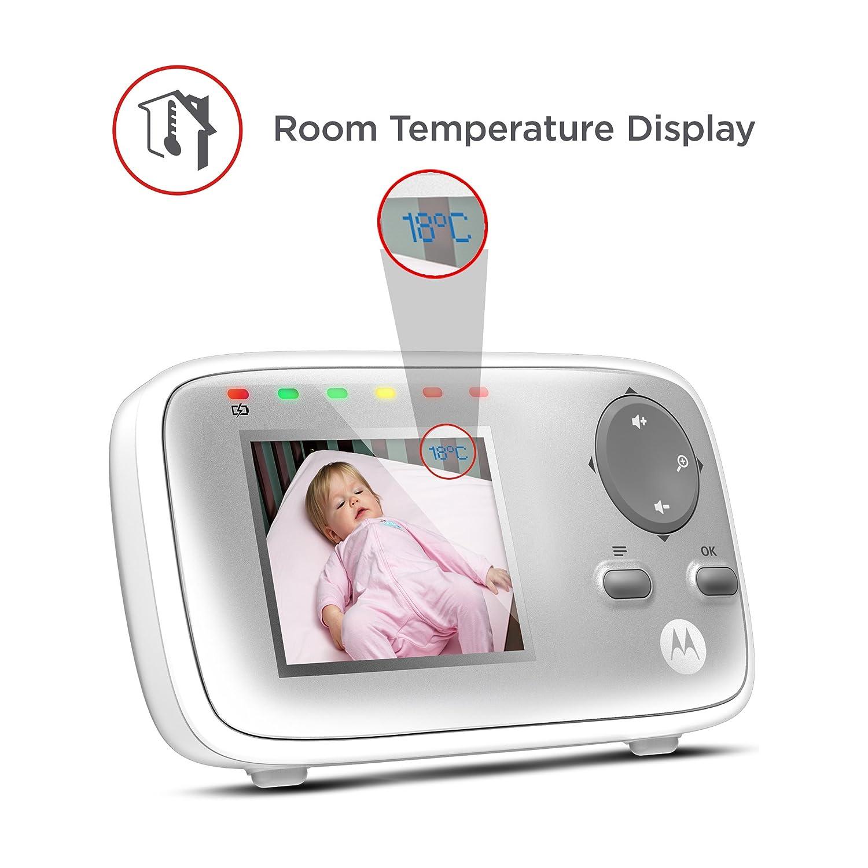 Motorola MBP 482 - Vigilabebés vídeo con pantalla LCD a color de 2.4