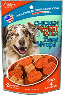 product image for Carolina Prime Pet 45301 Chicken & Sweet Tater Bone Wrap Treat For Dogs ( 1 Pouch), One Size