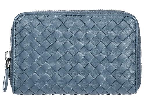 Bottega Veneta monedero cartera bifold de mujer en piel nuevo gris: Amazon.es: Zapatos y complementos