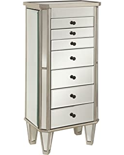 powell mirrored jewelry armoire with silver wood amazoncom antique jewelry armoire