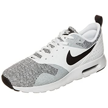new product a75be 96bee Nike Air Max Tavas Premium Baskets Homme, Blanc Noir