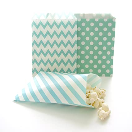 Amazon Teal Green Paper Candy Bags Kids Party Favor Small Birthday Goody And Gift Bag 75 Pack