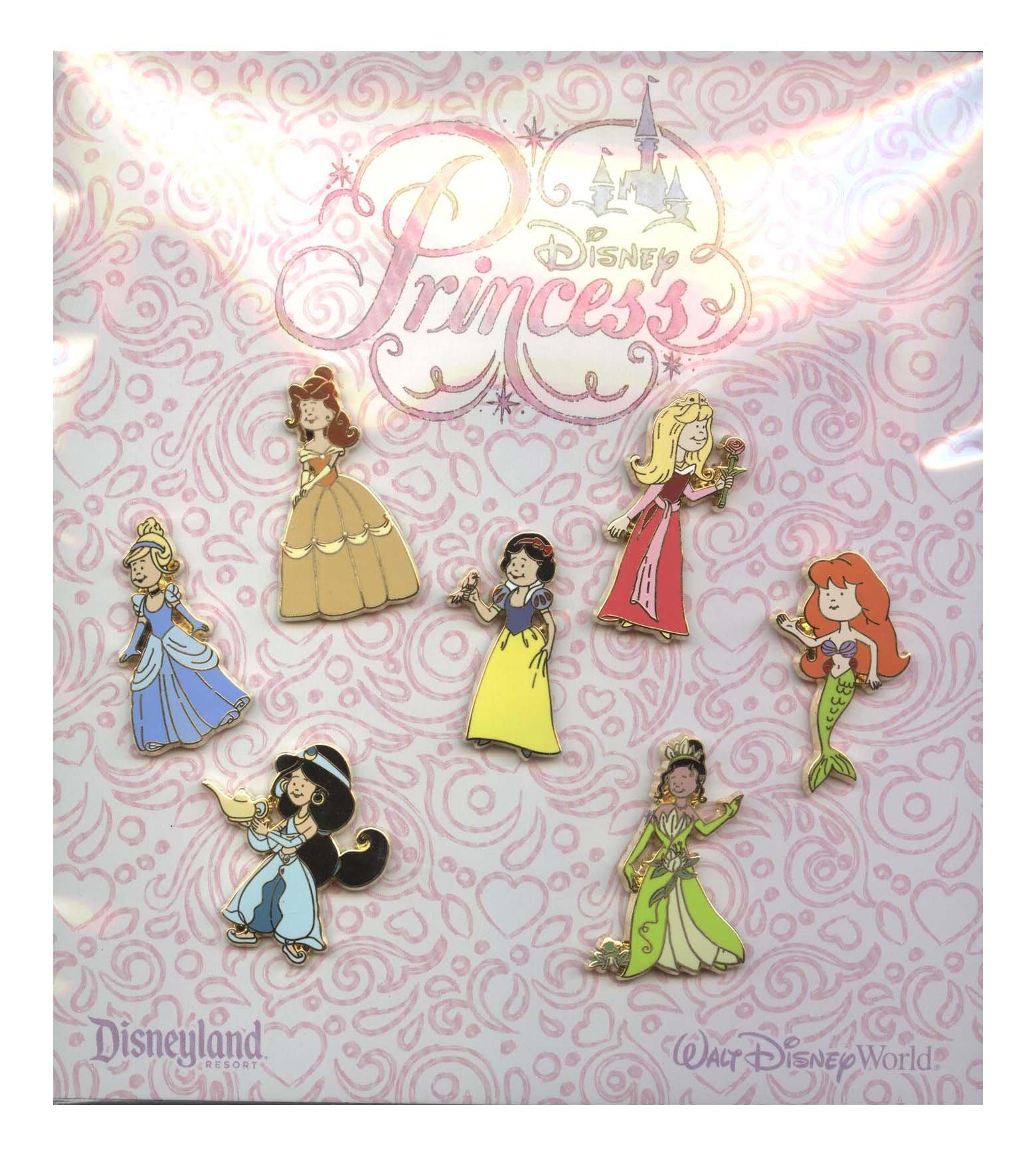 Disney Pin - Princess Dress Up - 7 Pin Set by Disney (Image #1)