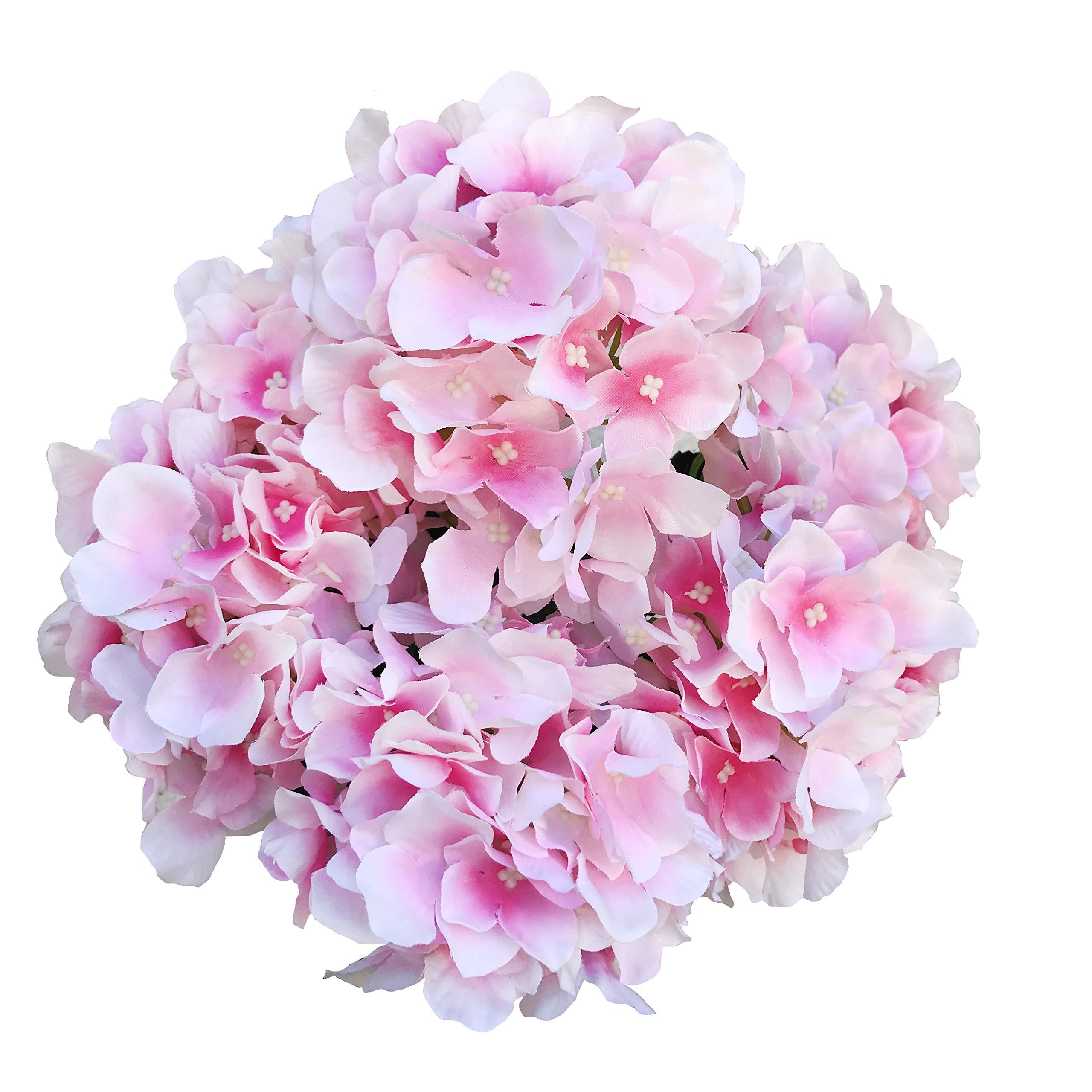 6 Heads Bundle Artificial Silk Flower Bouquet Hydrangea Wedding Home Decor Nice