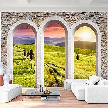 Fototapete Fenster Landschaft Natur 352 X 250 Cm Vlies Wand Tapete  Wohnzimmer Schlafzimmer Büro Flur Dekoration