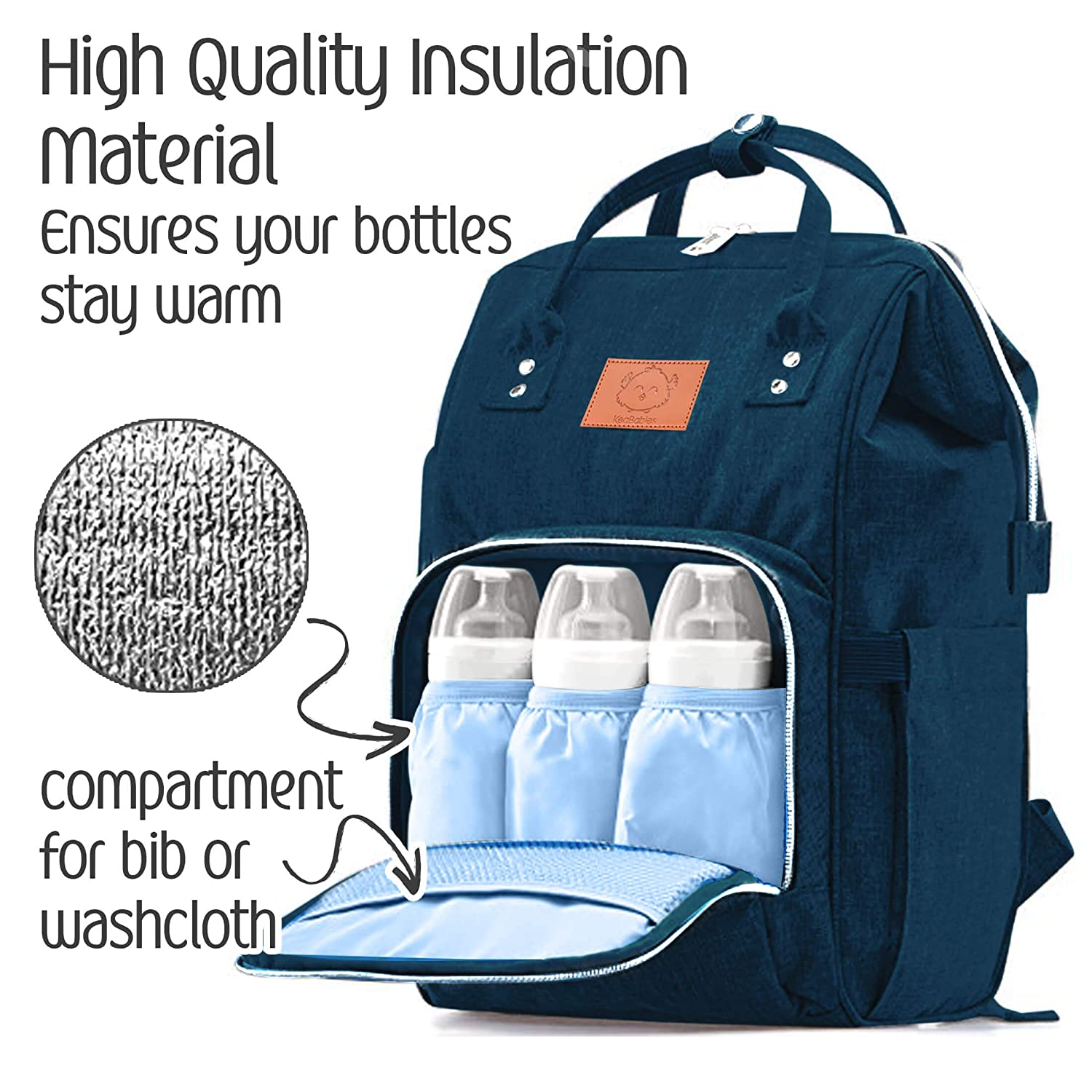 Durable Stylish KeaBabies Diaper Bag Backpack Mystic Gray Dad Men Women Multi-Function Waterproof Travel Baby Bags for Mom Large Maternity Nappy Bags for Girls /& Boys Diaper Mat Included