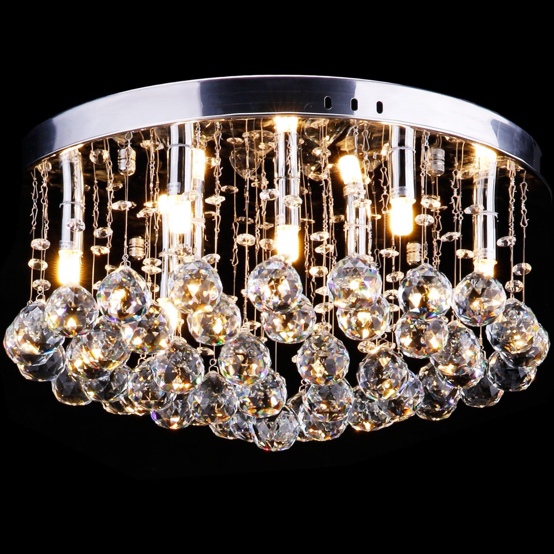 Chandeliers & Ceiling Fixtures Home & Garden Modern Glass